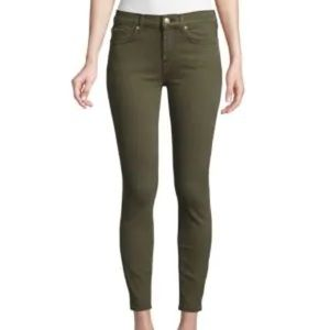 7 For All Mankind Gwenevere Ankle Skinny Jeans In Army Green